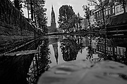 April 24, 2014<br /> Nieuwe Kerk (New Church), a Protestant church begun in 1396 and completed in 1496, stands 357 feet high over one of the many canals in Delft, Netherlands.<br /> ©2014 Mike McLaughlin<br /> www.mikemclaughlin.com<br /> All Rights Reserved