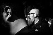 Il Leader di Casapound Italia Gianluca Iannone in marcia verso Piazza del Popolo per il comizio della Lega Nord, Roma 28 febbraio 2015.  Christian Mantuano / OneShot <br /> <br /> Gianluca Iannone leader of Casapound marching to Piazza del Popolo for the Northern League meeting in Rome February 28, 2015. Christian Mantuano / OneShot