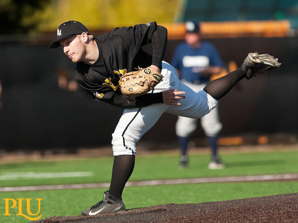 PLU baseball against Concordia (OR) on Wednesday, April 15, 2015. (Photo: John Froschauer/PLU)