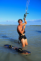 young and talented kitesurfer in brazil tatajuba, Jericoacoara ceara