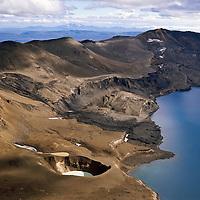 Víti við Öskjuvatn. Loftmynd.Viti crater at the shotre of lake Öskjuvatn..The crater contains hot water fine for bathing. Aerial