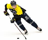 2018-08-04 | Jönköping, Sweden: HV71 (28) Anton Bengtsson during the HV71 ice premiere at Kinnarps Arena ( Photo by: Marcus Vilson | Swe Press Photo )<br /> <br /> Keywords: Ice Premiere, Season 2018/19, Sweden, SHL, Jönköping, Kinnarps Arena, Ice Hockey, HV71, , Anton Bengtsson