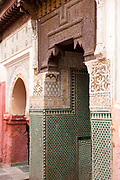 MARRAKESH, MOROCCO - 19TH APRIL 2016 - Zaouia / zawiya burial tomb shrine site of Sidi Ben Slimane - Shaykh Muhammad ibn Sulayman al-Jazuli, Marrakesh, Morocco. <br />