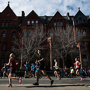 November 1, 2015 - New York, NY : Runners skirt Marcus Garvey Park in Harlem as they participate in the 2015 TCS New York City marathon on Sunday. <br />  CREDIT: Karsten Moran for The New York TImes