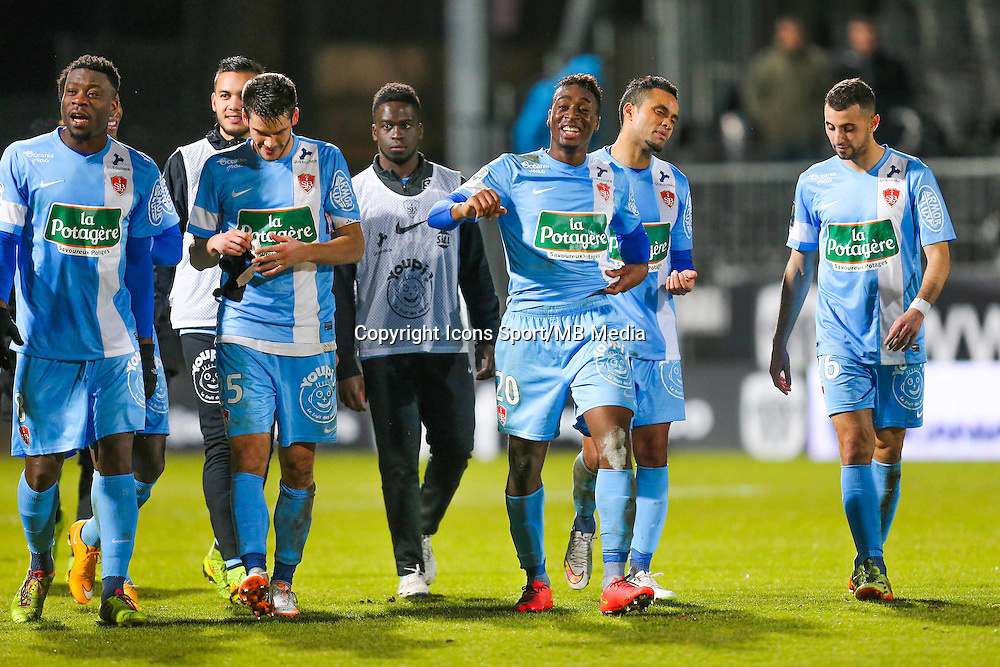 Joie groupe Brest  - 26.01.2015 - Angers / Brest - 21eme journee de Ligue 2 -<br /> Photo : Vincent Michel / Icon Sport