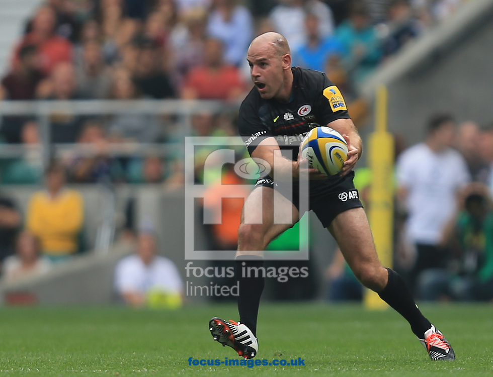 Charlie Hodgson of Saracens during the Aviva Premiership match at Twickenham stadium, London<br />