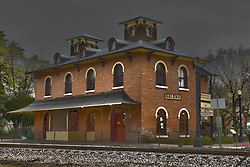 October 2009:  old railroad depot Galena Illinois. Sights to see in and around Galena Illinois.<br />