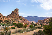 Tafraoute Napoleons Hat landscape, Anti Atlas Mountains, Souss Massa Draa region of Southern Morocco