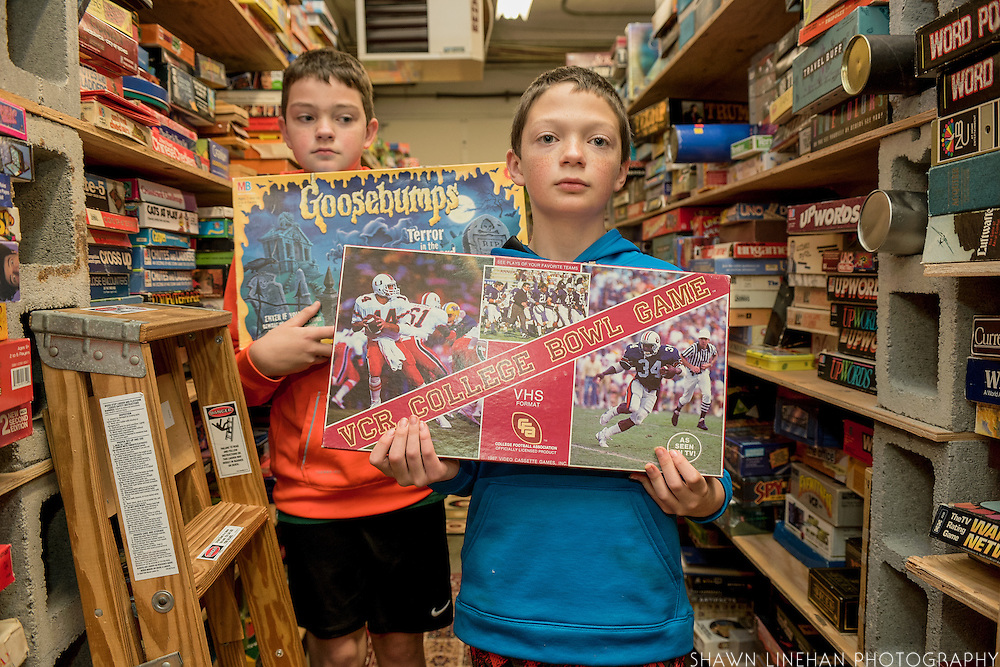 The Interactive Museum of Games and Puzzlrey has over 3500 games, many of which can be used by the public. These two visitors have chosen their favorite games.