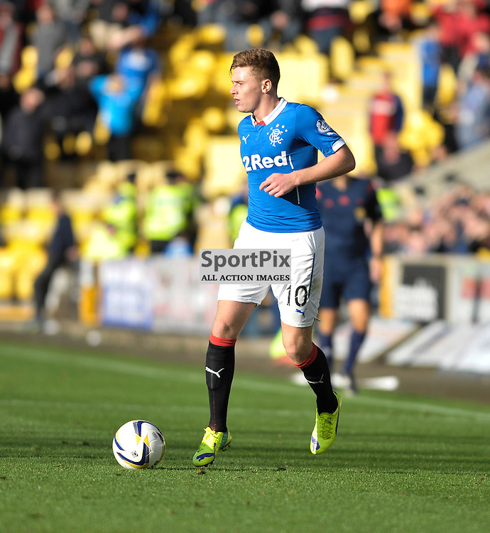 Lewis MacLeod (Rangers, blue)<br /> <br /> Livingston v Rangers, SPFL Championship, 4th October 2014<br /> <br /> (c) Alex Todd | SportPix.org.uk