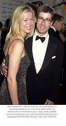 MR TIM & LADY HELEN TAYLOR, at a reception in Buckinghamshire on 11th June 2001.	OPB 104