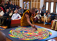 St Paul's School Sand Mandala Closing Ceremony.  ©2019 Karen Bobotas Photographer