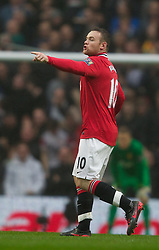 MANCHESTER, ENGLAND - Sunday, January 8, 2012: Manchester United's Wayne Rooney appeals for Manchester City's Vincent Kompany to be sent off during the FA Cup 3rd Round match at the City of Manchester Stadium. (Pic by Vegard Grott/Propaganda)