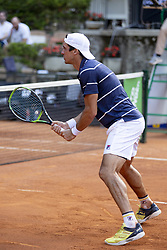June 19, 2018 - L'Aquila, Italy - Facundo Bagnis during match between Facundo Bagnis (ARG)/Ariel Behar (URU) and Andrea Arnaboldi/Daniele Bracciali (ITA) during day 4 at the Internazionali di Tennis Citt dell'Aquila (ATP Challenger L'Aquila) in L'Aquila, Italy, on June 19, 2018. (Credit Image: © Manuel Romano/NurPhoto via ZUMA Press)