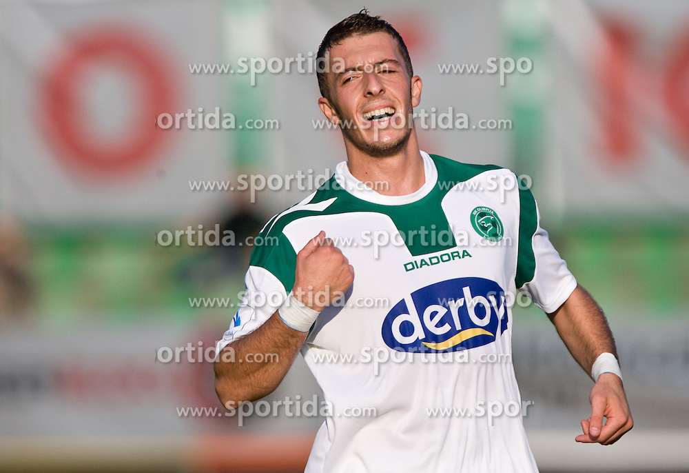 Agim Ibraimi of Olimpija at the football match Interblock vs Olimpija in 10th Round of Prva liga 2009 - 2010,  on September 23, 2009, in ZSD Ljubljana, Ljubljana, Slovenia. Olimpija won 1:0.  (Photo by Vid Ponikvar / Sportida)