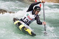 Anze Bercic of Slovenia competes in Canoe Single (C1) Men during International Slalom Kayak-Canoe competition, on May 6, 2018 in Tacen, Ljubljana, Slovenia. Photo by Vid Ponikvar / Sportida