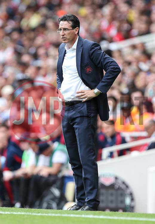 Arsenal manager Unai Emery looks on - Mandatory by-line: Arron Gent/JMP - 28/07/2019 - FOOTBALL - Emirates Stadium - London, England - Arsenal v Olympique Lyonnais - Emirates Cup