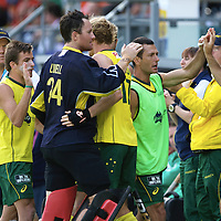 DEN HAAG - Rabobank Hockey World Cup<br /> 38 Final: Australia - Netherlands<br /> Foto: Celebration after the 3-1.<br /> COPYRIGHT FRANK UIJLENBROEK FFU PRESS AGENCY