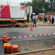 Scene of a grenade attack outside local shop in central Bujumbura. Eight people were injured in the attack.