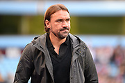 Norwich City Manager Daniel Farke during the EFL Sky Bet Championship match between Aston Villa and Norwich City at Villa Park, Birmingham, England on 19 August 2017. Photo by Dennis Goodwin.