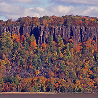 New Jersey Palisades during the fall as seen from across the Hudson from Westchester county