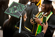 Graduates prepare for the 92nd and final Commencement Exercises on Saturday, April 28, 2018, in the Julius and Mary Jenkins Center at Concordia College Alabama in Selma, Ala. LCMS Communications/Erik M. Lunsford