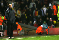 Photo: Paul Greenwood/Sportsbeat Images.<br />Liverpool v Bolton Wanderers. The FA Barclays Premiership. 02/12/2007.<br />Bolton manager Gary Megson watches from the technical area as his team are thrashed.