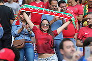Portugal fan during the Euro 2016 final between Portugal and France at Stade de France, Saint-Denis, Paris, France on 10 July 2016. Photo by Phil Duncan.