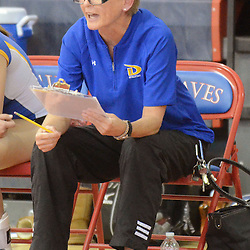 Photos by Tom Kelly IV<br /> East head coach Peggy Hopton during the Downingtown East vs Octorara volleyball game at Octorara on Wednesday October 16, 2013.