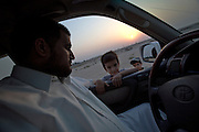 Mr. Hamad and his son.
