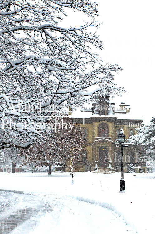 14 December 2013:   December snow in Bloomington - Normal, Il This image was produced in part utilizing High Dynamic Range (HDR) or panoramic stitching or other computer software manipulation processes. It should not be used editorially without being listed as an illustration or with a disclaimer. It may or may not be an accurate representation of the scene as originally photographed and the finished image is the creation of the photographer.
