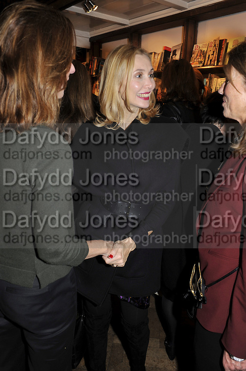 ALLEGRA HICKS, Book launch for Major/Minor by Alba Arikha. A  memoir about her adolescence in Paris published by Quartet Books. Daunts. London. 8 November 2011<br /> <br />  , -DO NOT ARCHIVE-© Copyright Photograph by Dafydd Jones. 248 Clapham Rd. London SW9 0PZ. Tel 0207 820 0771. www.dafjones.com.