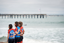 WNT Rotor Pro Cycling pose for photos at Amgen Tour of California Women's Race empowered with SRAM 2019 - Team Presentation in Ventura, United States on May 15, 2019. Photo by Sean Robinson/velofocus.com