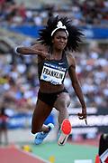 Tori Franklin (USA) competes in Triple Jump Women during the Meeting de Paris 2018, Diamond League, at Charlety Stadium, in Paris, France, on June 30, 2018 - Photo Julien Crosnier / KMSP / ProSportsImages / DPPI