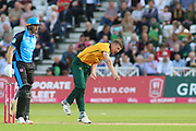 Jake Ball of Nottinghamshire Outlaws bowling during the Vitality T20 Blast North Group match between Nottinghamshire County Cricket Club and Worcestershire County Cricket Club at Trent Bridge, West Bridgford, United Kingdon on 18 July 2019.