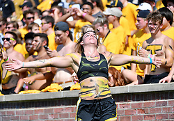 Sep 1, 2018; Columbia, MO, USA; Missouri Tigers fans show their support during the game against the Tennessee Martin Skyhawks at Memorial Stadium/Faurot Field. Missouri won 51-14. Mandatory Credit: Denny Medley-USA TODAY Sports