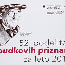 20170214: SLO, Events - 52. podelitev Bloudkovih priznanj za leto 2016