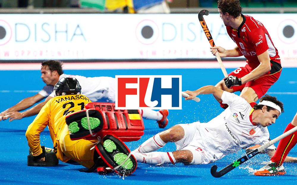 Odisha Men's Hockey World League Final Bhubaneswar 2017<br /> Match id: 18<br /> Belgium v Spain<br /> Foto: keeper Vincent Vanasch (Bel)   <br /> COPYRIGHT WORLDSPORTPICS KOEN SUYK