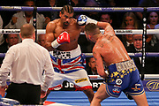 Tony Bellew throws a right hand jab at David Haye at the O2 Arena, London, United Kingdom on 5 May 2018. Picture by Phil Duncan.