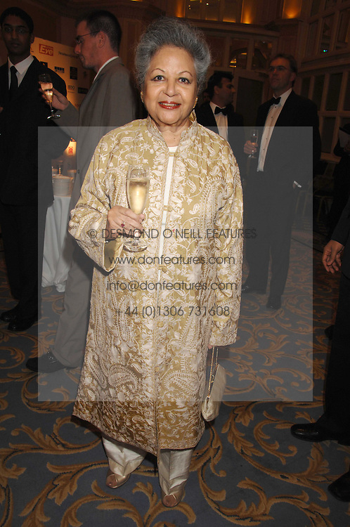BARONESS FLATHER at the Eastern Eye Asian Business Awards 2007 in the presence of HRH The Duke of York at the Hilton Park Lane, London on 8th May 2007.<br /><br />NON EXCLUSIVE - WORLD RIGHTS
