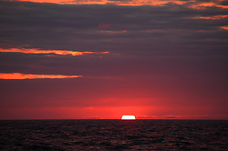 ATLANTIC OCEAN ABOARD ARCTIC SUNRISE 29MAY11 - Colourful sunset off the Labrador coast in the north Atlantic Ocean.....jre/Photo by Jiri Rezac / Greenpeace