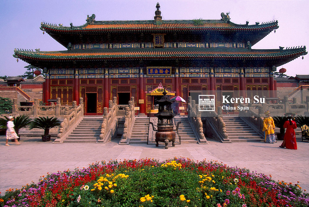 Temple building at Putuo Zongsheng Temple, Imperial Summer Palace and its Outlying Temples, Chengde, Hebei Province, China
