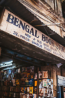 A small bookstore near Park Street in downtown Kolkata.