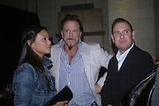 Mickey Rourke, Established and Sons UK Launch during Design Week. The Bus Depot, Hertford Road. Hoxton. 22 September 2005.  ONE TIME USE ONLY - DO NOT ARCHIVE © Copyright Photograph by Dafydd Jones 66 Stockwell Park Rd. London SW9 0DA Tel 020 7733 0108 www.dafjones.com