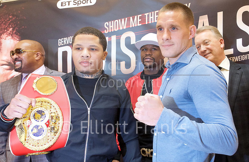 Floyd Mayweather Jr &amp; Frank Warren press conference at The Savoy Hotel, London, Great Britain <br /> 7th March 2017 <br /> <br /> Gervonta Davis <br /> (an American professional boxer who has held the IBF junior lightweight title since January 2017)<br /> <br /> Floyd Joy Mayweather Jr. is an American former professional boxer who competed from 1996 to 2015 and currently works as a boxing promoter. <br /> <br /> 
