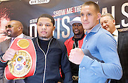 Floyd Mayweather Jr & Frank Warren press conference at The Savoy Hotel, London, Great Britain <br /> 7th March 2017 <br /> <br /> Gervonta Davis <br /> (an American professional boxer who has held the IBF junior lightweight title since January 2017)<br /> <br /> Floyd Joy Mayweather Jr. is an American former professional boxer who competed from 1996 to 2015 and currently works as a boxing promoter. <br /> <br /> 