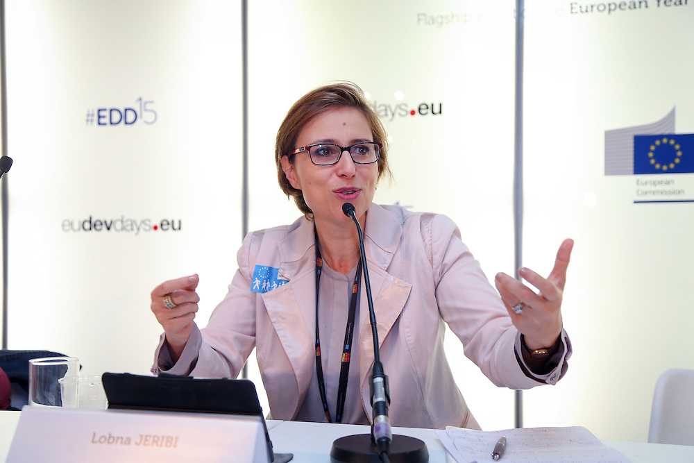 04 June 2015 - Belgium - Brussels - European Development Days - EDD - Inclusion - Democracy support under pressure - Challenges for EU democracy support in the Middle East and North Africa region - Lobna Jeribi , Founder and president of Solidar Tunisia , North Africa © European Union