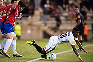 Western Sydney Wanderers midfielder Roly Bonevacia (28) at the FFA Cup Round 16 soccer match between Bonnyrigg White Eagles FC v Western Sydney Wanderers FC at Marconi Stadium in Sydney.
