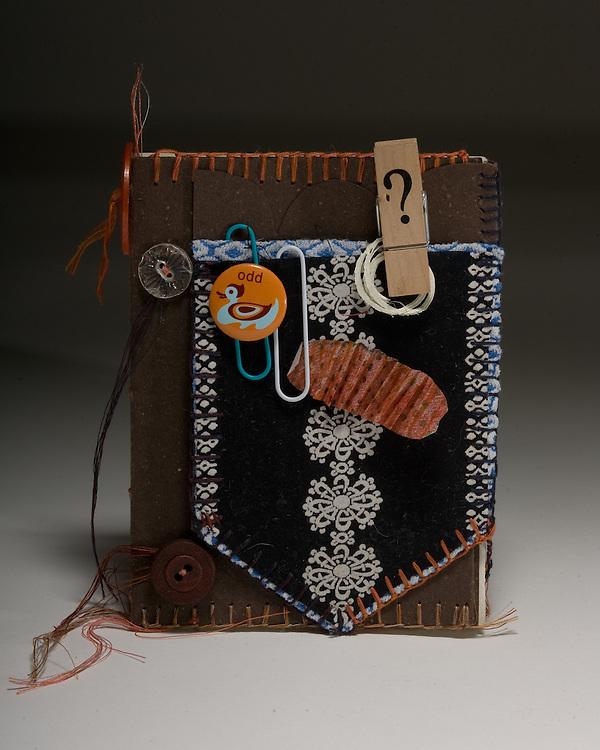 Artist: Kathyrn Petke. Coptic stitch binding with embelished cover.