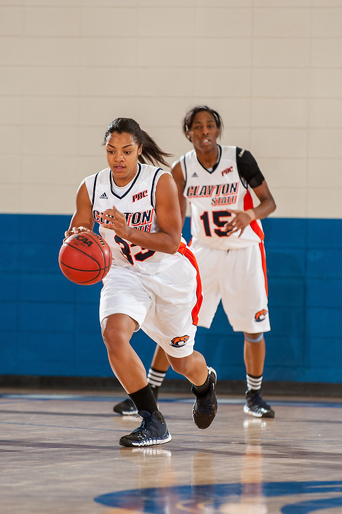 Nov. 30, 2013; Morrow, GA, USA; Clayton State University's women's forward/center Andrea Benford during the game against Tusculum University at CSU. CSU won 89-61. Photo by Kevin Liles / kevindliles.com